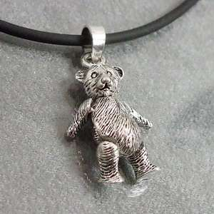 Cute Moveable Teddy Bear Sterling Silver Pendant