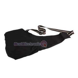 Black Oxford Cloth Sling Pet Dog Cat Carrier Bag 3 Size