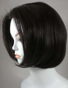 Darkest Brown Short Straight Bob Style Human Hair Wig