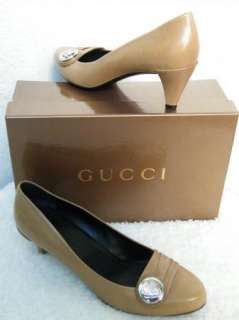 GUCCI SHOES SANDALS BOOTS flats HEELS TAUPE 39 9