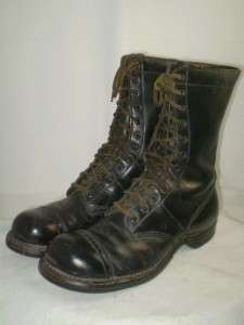 vintage mens Corcoran Military Jump Boots black leather 10 D