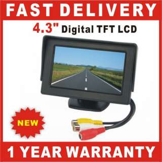 Digital TFT LCD Car Rear View Reverse Color Monitor For Camera DVD VCR