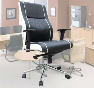 High Back Leather Office Chair Mid Back Computer Task Desk Conference