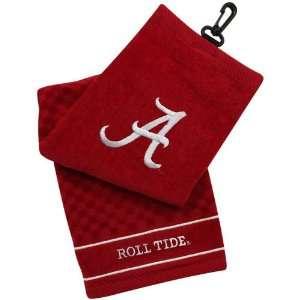 NCAA Alabama Crimson Tide Crimson Embroidered Team Logo