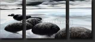 Art Modern Ocean Wave and Rocks Seascape Oil Painting Cs039