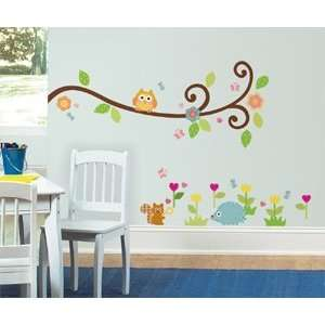 Scroll Tree Branch Wall Decals in RoomMates