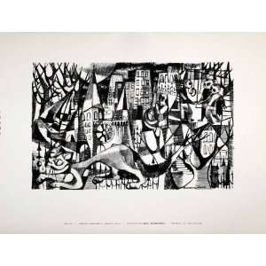 1954 Lithograph Rosemary Goldfein Zwick Modern Abstract