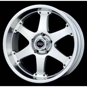 17x8 Enkei RT6 (Silver w/ Machined Lip) Wheels/Rims 5x135