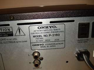 Onkyo Infrared Wireless Remote Controlled Stereo Preamplifier RI