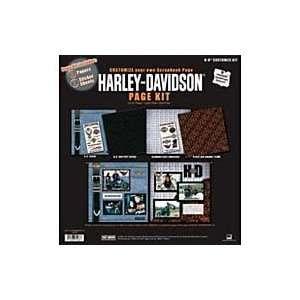 com Harley Davidson Motorcycle Customize 12 X 12 Scrapbook Page Kit