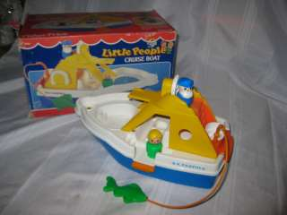 Vintage Fisher Price Little People Cruise Boat Box Set