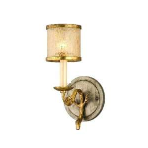 Parc Royale Collection 1 Light 4 Gold and Silver Leaf Wall Sconce