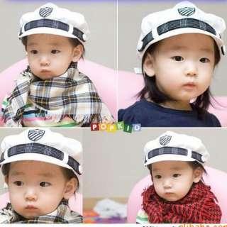 New Cute Kids Children Boys Girls White Navy Cap Hat 9108