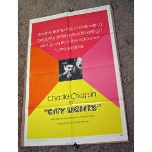 Lights   Charlie Chaplin   Original 1972 Movie Poster