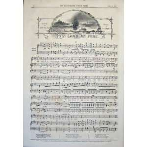 Music Score Sheet Land My Home Sporle Lovell Print 1845