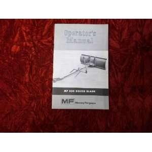 Massey Ferguson MF 530 Dozer Blade OEM OEM Owners Manual