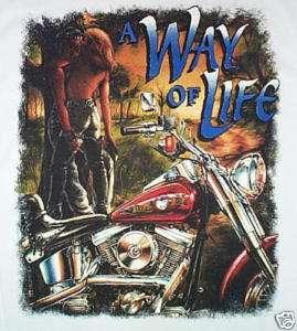 NEW Mens/Women A WAY OF LIFE Harley Motorcycle T Shirt