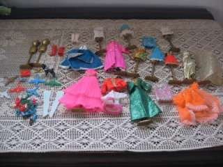 Vintage Topper Dawn Doll Doll Clothes Shoes Purses & Accessories Lot