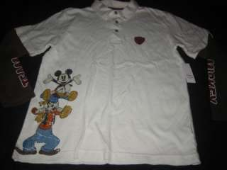 NWT Disney MICKEY Mouse Donald GOOFY Layered Shirt XS 4