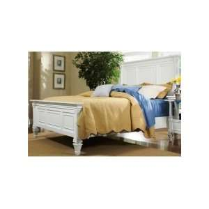 Ashby Wood Panel Bed Queen Size Patina White Finish Home