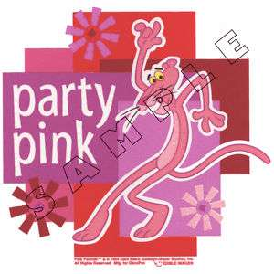 Pink Panther Edible Cake Topper Decoration Image