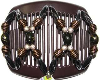 NEW African Butterfly Hair Clip Dalena Brown Comb DNA2