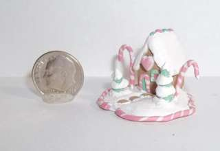 Miniature Dollhouse Shabby CHRISTMAS COTTAGE   Winter Rose Chic Sculpt