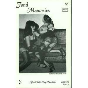 Fond Memories (Official Bettie Page Newsletter, #Y) Steve