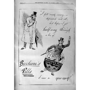 1901 Advertisement Beechams Pills Saint Helens Medicine