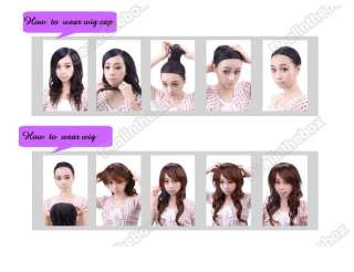 New Pink Stylish ladies long Wavy Curly Cosplay Party Hair Womens