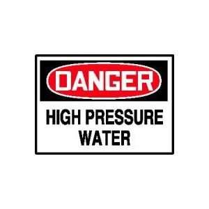 DANGER Labels HIGH PRESSURE WATER Adhesive Vinyl   5 pack