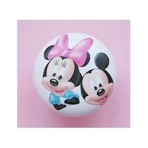 New 2pc Couple Mickey & Minnie Mouse Ceramic Dresser Knobs