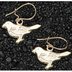 Baltimore Orioles Bird Gold Dangle Earrings Sports
