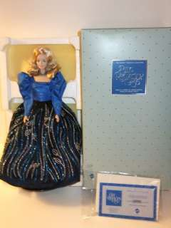 NIB BARBIE DOLL 1986 PORCELAIN COLLECTION BLUE RHAPSODY