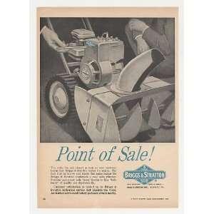 1963 Briggs & Sraon Engine Snow Blower rade Prin Ad