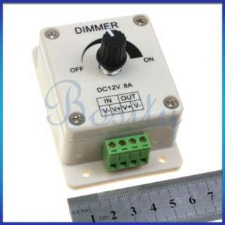 PWM LED Light Bulb Dimmer Brightness Control Wall Switch DC 12V 24V 8A