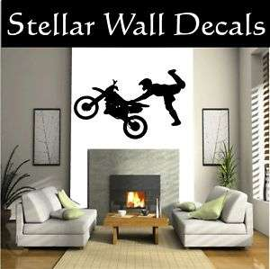 Dirt Bike Moto Wall Car Vinyl Decal Sticker Sst007 HUGE