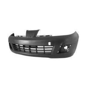 TKY DS04232BB DK1 Nissan Versa Primed Black Replacement Front Bumper