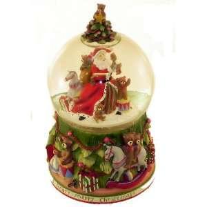 San Francisco Music Box Company   Santa With Tree and Teddy Bears