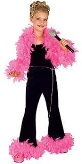 Glamour Diva Black Pink Feather Costume NIP 8 10
