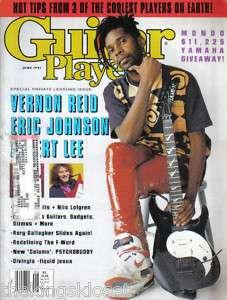 Guitar Player Magazine June 1991 Vernon Reid Albert Lee