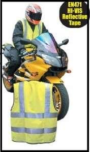 HI VIS MOTOR BIKE Motorcycle Reflective/Safety Bib Vest