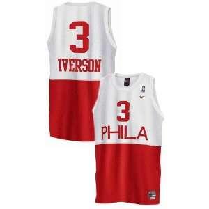 76ers #3 Allen Iverson White Hardwood Classic Nights Swingman Jersey