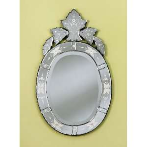 Donato Hand Carved Venetian Wall Mounted Mirror, Etched, Beveled, and