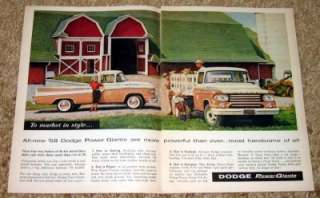 1958 Dodge Pickup Truck Original Color Ad