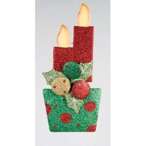 Dot Holly & Candle Hanging Christmas Door Decoration: Home & Kitchen