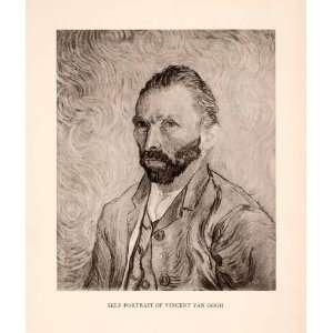 Self portrait Vincent Van Gogh Famous Artist Hair Beard Clothing