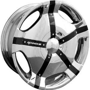 Complete Set Of Rennen MB II Tone   Chrome w/ Black Inserts 20x8.5