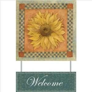 90390808 Summer Sunflower Welcome Sign   Coffey Patio, Lawn & Garden