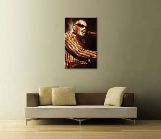 RAY CHARLES Jazz Original CANVAS ART PAINTING 26 x 15